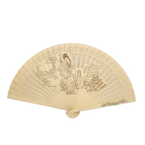 Frau Schönheit flötend Druck gefaltet aus Holz geschnitzten duftende Hand Fan de