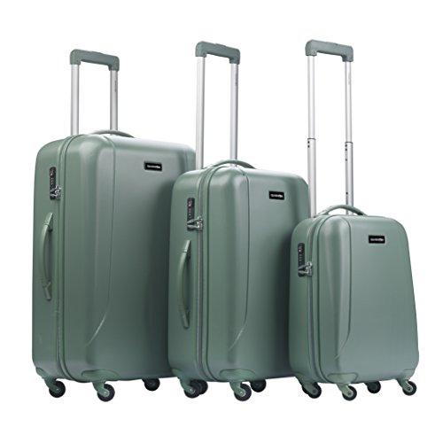 CarryOn Skyhopper 3er Reisegepäck - TSA Koffer- Hartschalen Gepäck-Set - Reisekoffer (Oliv)