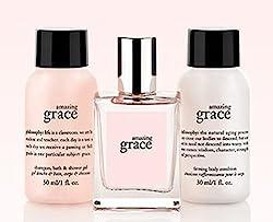 Philosophy Amazing Grace Mini Fragrancebathbody Trio ~ Amazing Grace By Philosophy