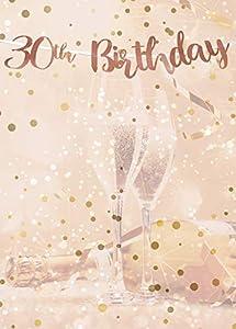 Alandra Cumpleaños BUNT-30 30th cumpleaños Oro Rosa metálico Bunting, Crema y Rosa, Talla única