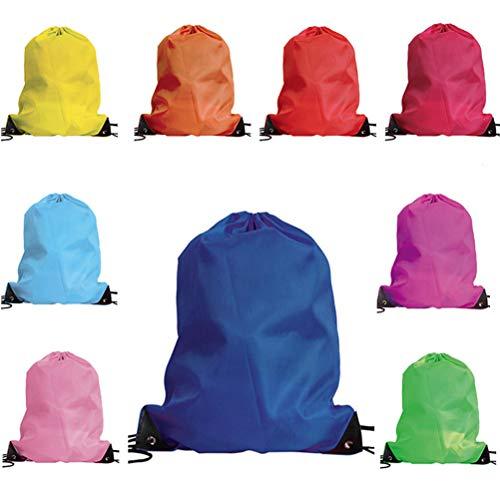 Fenical Kordelzug Rucksack Bulks Cinch Taschen Polyester Sporttaschen 10 Stück (zufällige Farbe)