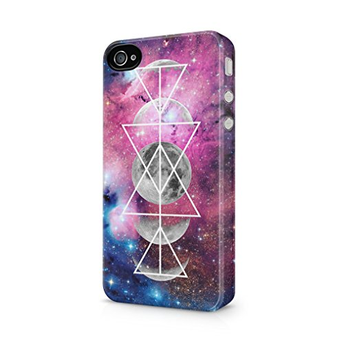 Maceste Moon Phases Space Galaxy Hipster Tumblr Kompatibel mit iPhone 4 / iPhone 4S SnapOn Hard Plastic Phone Protective Fall Handyhülle Case Cover