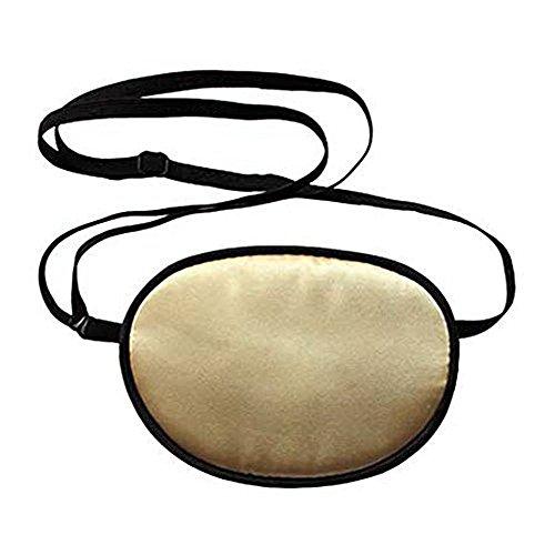 Reise Kostüm Gold - TININNA Erwachsene Augenklappe,Seide Augen-Flecken behandeln Lazy Eye/Amblyopie/Strabismus EIN Patch, Augenmaske Augen Beschattung Ebene für Erwachsene Faule Auge Amblyopie (Gold) EINWEG Verpackung
