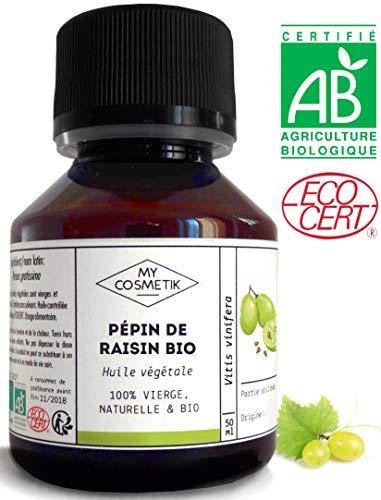 Aceite vegetal Semilla Uva orgánico - MyCosmetik-