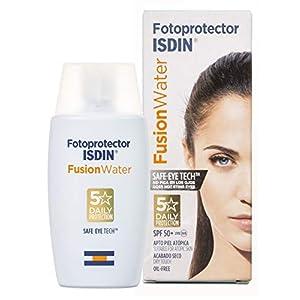 Fotoprotector ISDIN Fusion Water SPF 50 – Protector solar facial de fase acuosa para uso diario, Textura ultra ligera, 50 ml