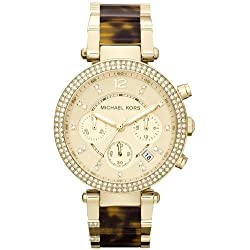 MK5688 Ladies Michael Kors Torqoise Shell Gold Plated Bracelet Watch