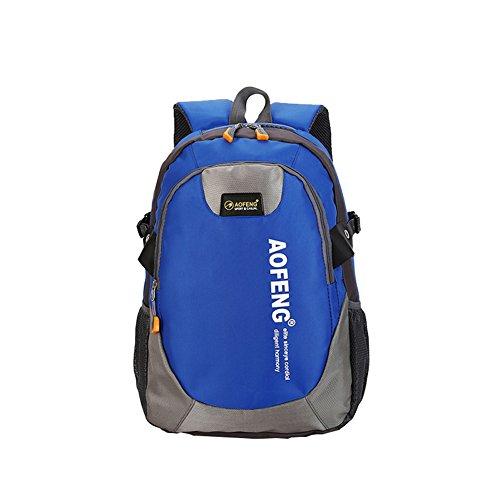 WTUS Unisex Outdoor Freizeit Sport Schultertasche Wasserdicht Ultra-Leichte Reitrucksack Nylon Wanderrucksäcke Blau