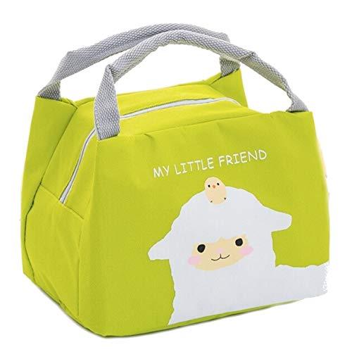Evrylon borsa frigo piccola borsetta termica per bambini adatta per il mare dimensioni 21 x 17 x 15 cm colore verde