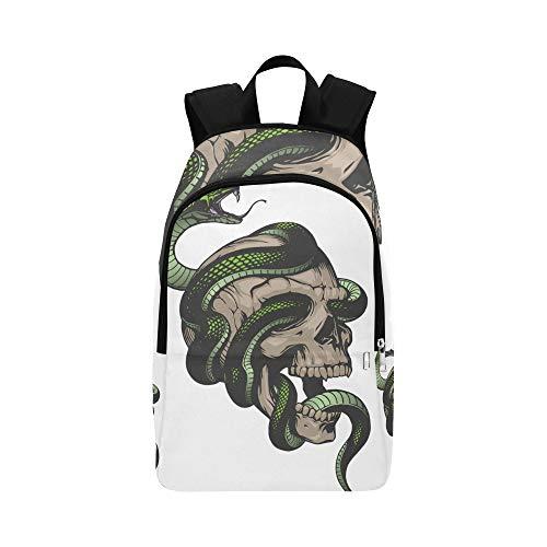 �tige Schlange lässig Daypack Reisetasche College School Rucksack für Männer und Frauen ()
