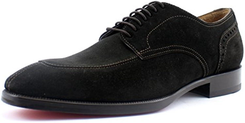Giorgio rea Zapatos de Hombre de Cuero Genuino Hechos a Mano en Italia, Derby Brogue Color Marron, Tamaño UE 40... -