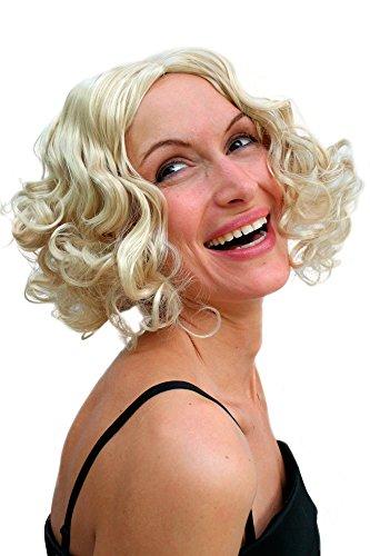 WIG ME UP ® - PW0238-KB88 Perücke Hollywood Diva BLOND 20er Jahre Burlesque
