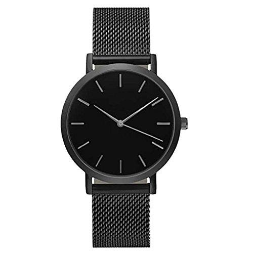 Scenxion Herren-Armbanduhr, ultradünn, minimalistisch, Retro-Stil, luxuriöse Armbanduhren für Herren, Business-Kleid, lässig, wasserdicht, Quarzuhr für Herren, mit Edelstahl-Netzband für Männer -
