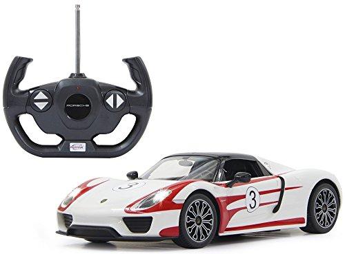 ferngesteuertes formel 1 auto RC Porsche 918 Spyder - ferngesteuert - inkl. Fernbedienung - RTR - Wählbar.: Maßstab,Farbe oder Rennedition (1:14 - Race weiß)