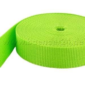 50m PP Gurtband - 20mm breit - 1,8mm stark - limone (UV)
