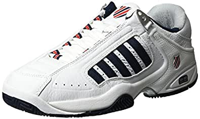K-Swiss Performance Men Defier Rs Tennis Shoes, White (White/Dressblues/Fieryred 164), 6 UK 39 1/2 EU