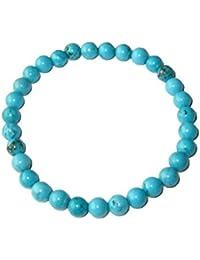 Bracelet Turquoise 20cm - Pierres boules 6mm - Sans fermoir