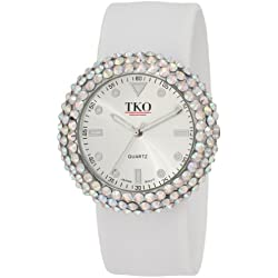 TKO ORLOGI Women's TK613CL Crystal White Slap Watch