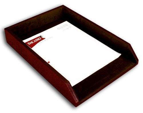 Dacasso Mocha Leather Letter Tray, Legal Size by Dacasso (Legal Letter Tray)