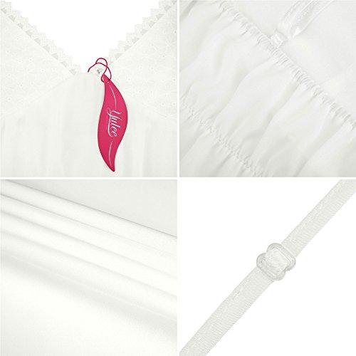 Yulee donne Camicia a maniche lunghe in chiffon Indumenti da letto integrali White