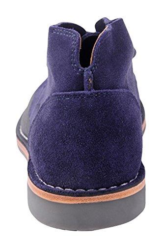 Riancess Boots homme Pour détent et travail Chaussures de ville Bleu
