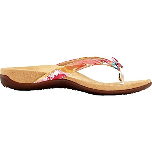 Vionic Womens Rest 44 Bella II Synthetic Sandals Floral Blanc