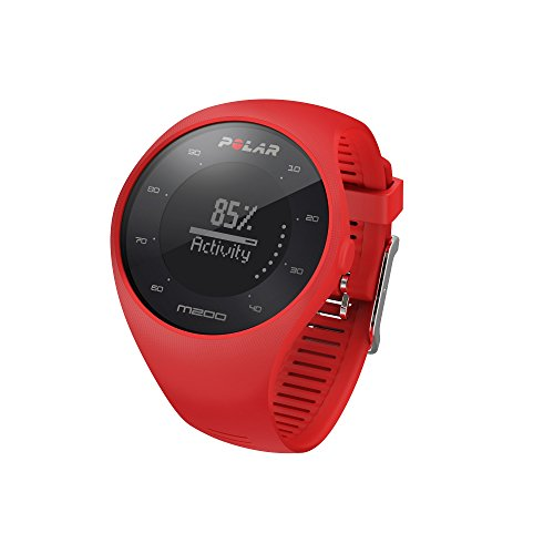 Polar Unisex M200 Gps Running Watch with Wrist Based Heart Rate, Bright Red, Medium/Large