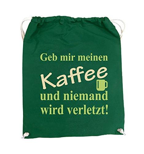 Farbe Weiss Turnbeutel Kaffee mir wird Schwarz und Geb Royalblau Neongrün Bags DunkelGrün meinen Comedy niemand verletzt Hellblau 37x46cm zqPwAOEx
