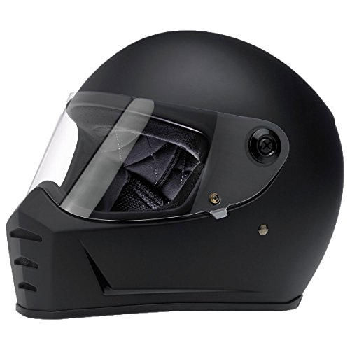 Biltwell Lane divisor sólido Full-Face–Casco de Moto soporte de negro