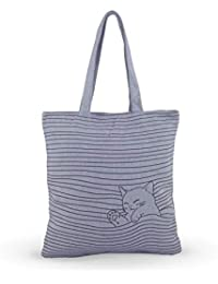 Shoppertize Latest Multipurpose Tote Bag, Designer Tote Bag, Tote Bag For College Girls-grey Kitty