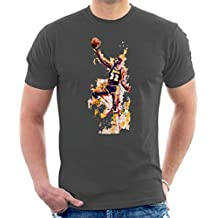 Sidney Maurer Original Portrait of Magic Johnson LA Lakers Mens T-Shirt