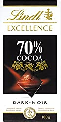 Lindt Excellence 70% Cocoa Dark Chocolate - 100 Grams