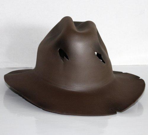 Freddy Krueger Hut - Einheitsgröße, braun (ohne Maske), Material: Polyurethan (Freddy Outfit Krüger)
