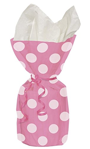 Polka PINK Party Cello Bags (20pk) (Bag Paper Pattern)