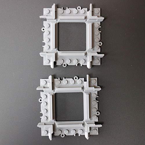 2 x mini binario a croce personalizzato compatibile con lego city, binari a croce dritta crossover compatibili con rotaie e set treni lego, accavallare, rotaie diritte compatibili con lego city