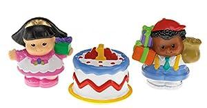 Fisher Price - Tubo Figuras Little People, fiesta de cumpleaños (Mattel N0724)