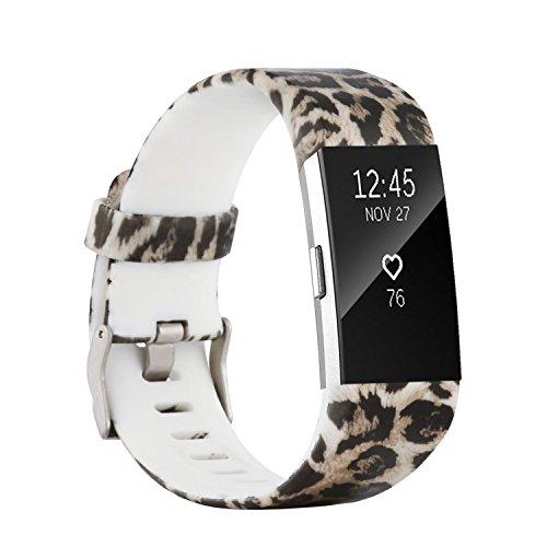 Fit-power - Correa de repuesto para Fitbit Charge 2, accesorio ajustable para pulsera de actividad física Fitbit Charge 2, pequeña y grande, Pattern D, Small Size