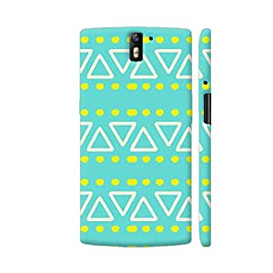 Colorpur Green Ethnic Pattern Artwork On OnePlus One Cover (Designer Mobile Back Case) | Artist: Astha
