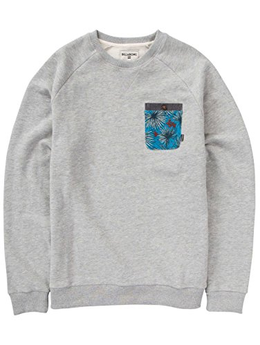 2016 Billabong Transmit Crew Sweatshirt NAVY Z1FL05 Grey Heather