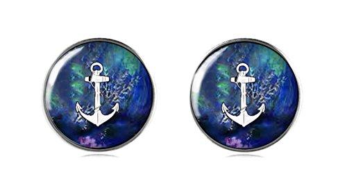 tizi Schmuck 925Sterling Silber Anker Ohrring Ohrstecker 12mm Handgefertigt für Damen und Mädchen Perfekte Geschenk oder für Party (Kinder Stern Kostüm Geburt)