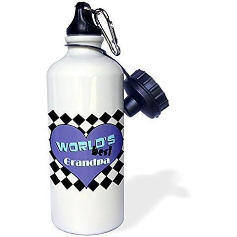 statuear Worlds Best Grandpa In Alluminio 20ml 600ml Bottiglia Acqua Sport Regalo