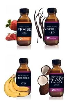Néroliane LOT 4 AROMES NATURELS : Fraise-Vanille -Banane-Noix de Coco