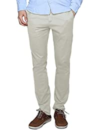 Match Herren Slim-Tapered Flat-Front Casual Hose #8063