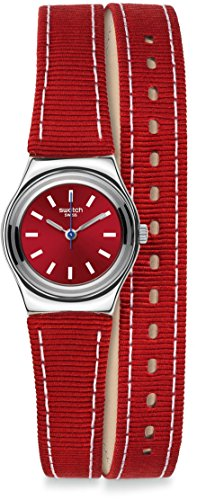 Swatch Reloj de cuarzo Woman Red Street Wrist 25 mm