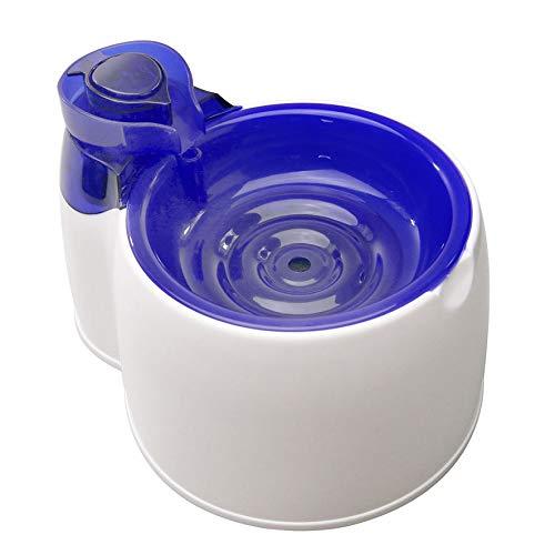 CWYSJ Fuente De Agua para Mascotas Dispensador De Agua Automático Perro Gato Oxígeno Dispensador De Agua De Circulación Automática,Blue