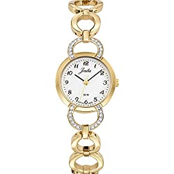 Joalia Women's Analogue Watch with White Dial Analogue Display and Metal - 631922