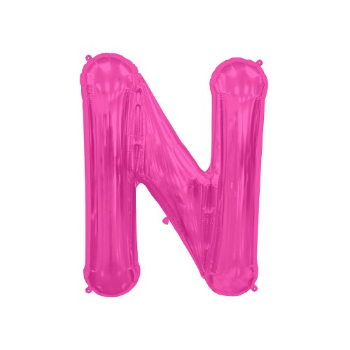 NorthStar Folienballon Buchstabe N-Magenta, 16 Zoll, Pink, 000518