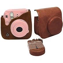 Itian PU Cuero sintético de Bolsa para Fujifilm Instax Mini 9 / Mini 8 / Mini 8+ (Marrón)