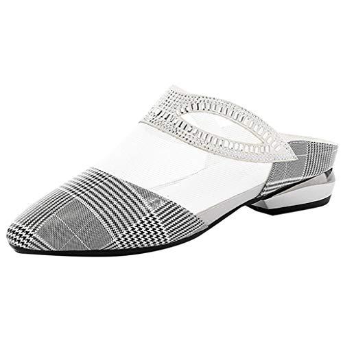 REALIKE Damen Sandalen Sommerschuhe Gitter Mesh Plattformen Schuhe Dicke Sohle Schuhe Elegant Schuhe Knöchel Peep Toe au,Schwarz Frauen Bequem Touch Freizeitschuhe -
