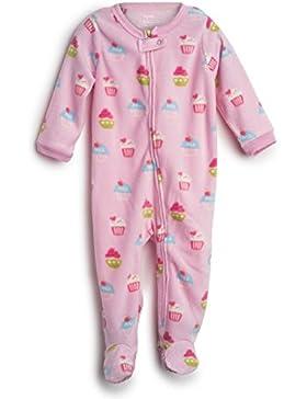 "Elowel Pigiama da bimba bambini ragazze, in pile, pezzo unico, linea: ""Uccelli"", (dai 6 mesi a 5 anni)"