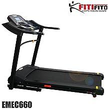 fitifito 660B cinta de correr profesional 6PS 18km/h con pantalla LED, sistema de amortiguación, entrenamiento 15módulos Incluye HRC–plegable, color negro